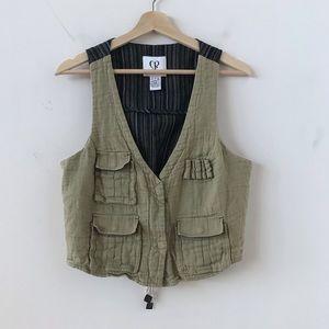 Charlotte Ronson green utility vest